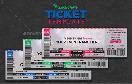11+ Concert Ticket Templates in PSD for Photoshop