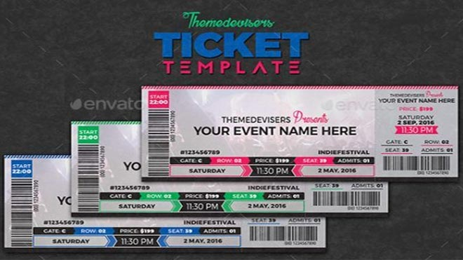 33+ Free Ticket Templates  Psd Mockups For Your Next Branding Project