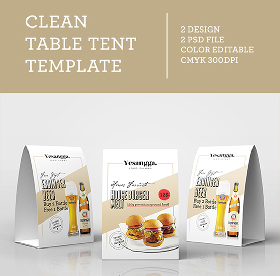 20+ Table Tent Card Mockups  PSD Templates - restaurant table layout templates