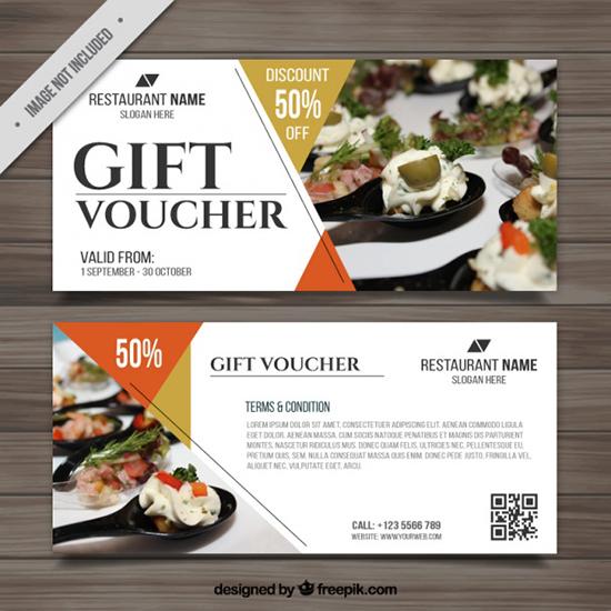 22+ Best Free Gift Voucher Templates In PSD - lunch voucher template