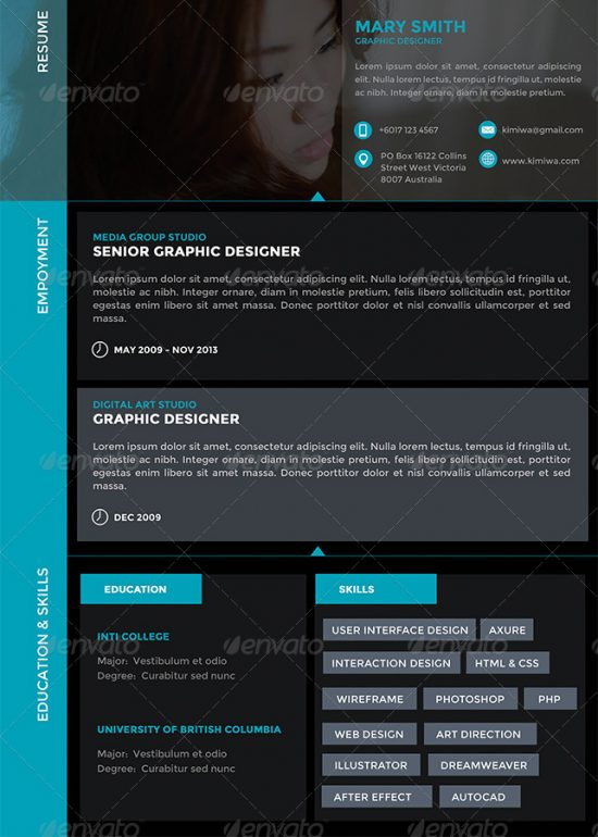 28+ Best Resume For Graphic Designers (PSD  Ideas With Examples) - graphic design resumes