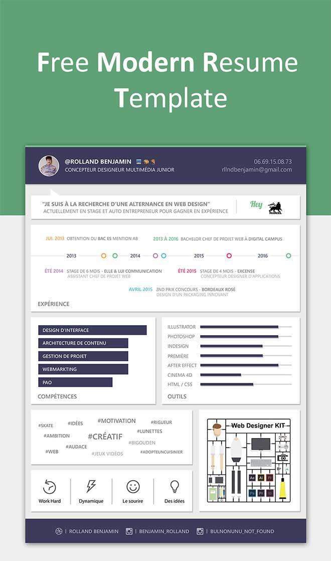 Modern Resume Templates Free Download - modern resume template free download