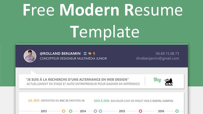 Modern Resume Templates Free Download - modern resume templates
