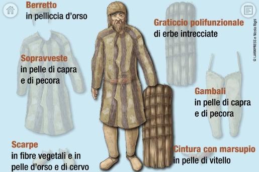 Ricerca: 5 pelli per l'outfit di Oetzi, nel dna i segreti del suo guardaroba