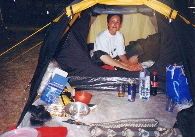 Den letzten Platz für unser Zelt ergattert - Insel Rügen Juli 2001