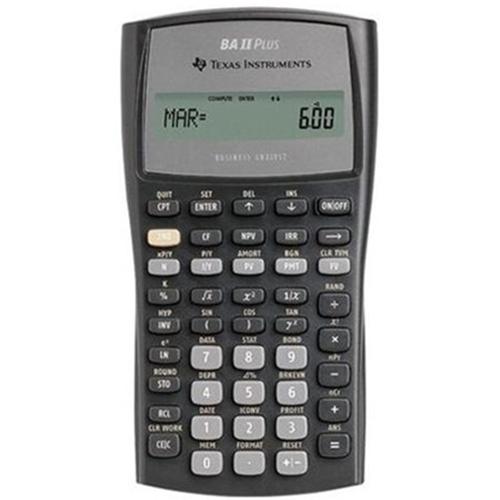 UMKC Bookstore - Texas Instruments BA II Plus Financial Calculator - financial calculator