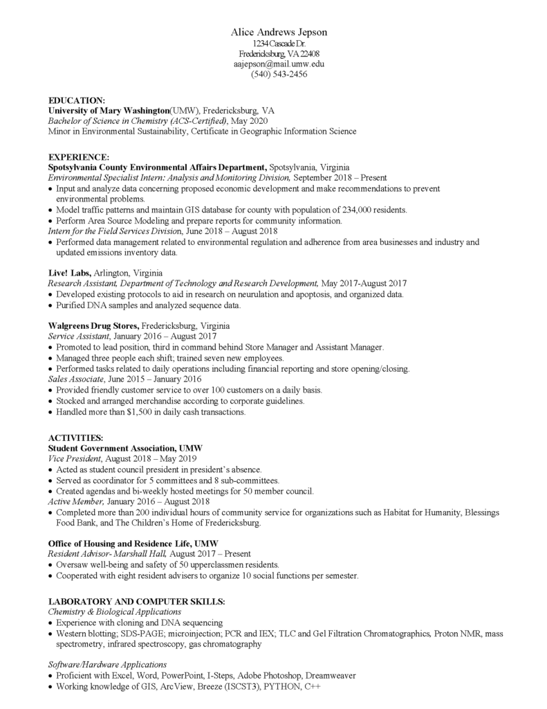 modern stem resume