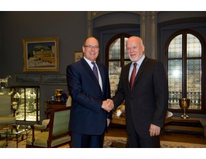 President Thomson met with Prince Albert of Monaco