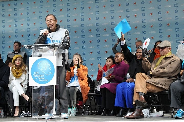On International Women's Day, UN Secretary-General Ban Ki-moon calls for boosted global efforts to achieve gender equality. Photo: UN Photo/Devra Berkowitz