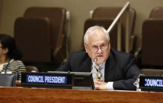 President of the Economic and Social Council (ECOSOC) Martin Sajdik. UN Photo/Evan Schneider