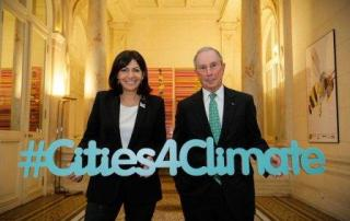 Anne Hidalgo, Mayor of the City of Paris and Michael R. Bloomberg, the UN Secretary-Generals Special Envoy for Cities and Climate Change, co-host the Climate Summit for Local Leaders on the margins of the UN climate change conference. 4 December 2015. Photo credit: @Cities4Climate