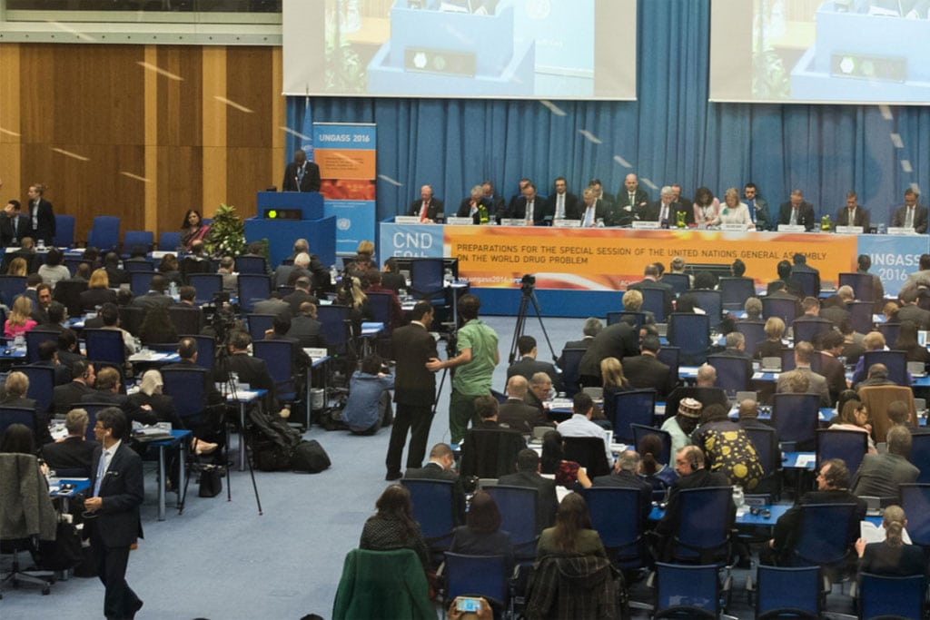 Photo:Opening of the 59th Session of the Commission on Narcotic Drugs (CND) in Vienna, Austria.