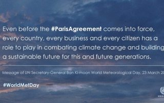 Image: The Secretary-General's message for World Meteorological Day 2016.