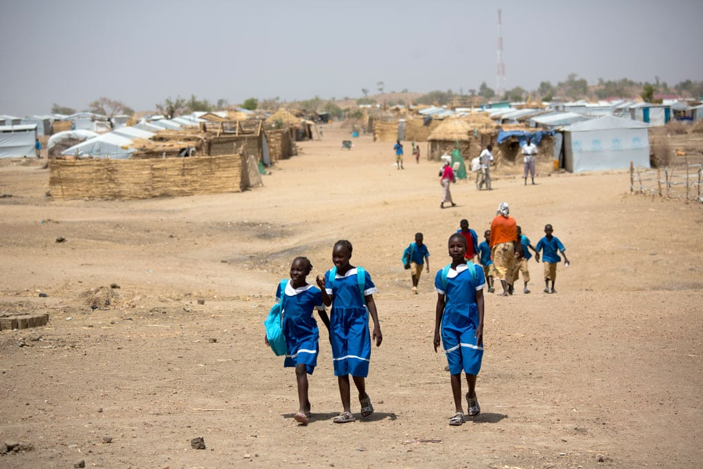 Photo: Nigerian refugee children at the Minawao refugee camp in Northern Cameroon.