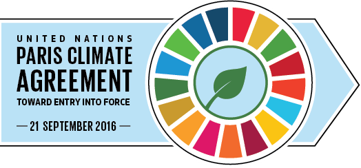 Logo: United Nations Paris Climate Agreement - Toward Entry into Force - 21 September 2016