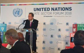 Photo: Secretary-General Ban Ki-moon addresses the UN Private Sector Forum.