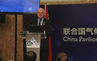 UN Special Adviser David Nabarro addresses a High Level Forum of South-South Cooperation on Climate Change, at the UN COP22 in Marrakech, Morocco. Photo: Video Capture. UN News Centre