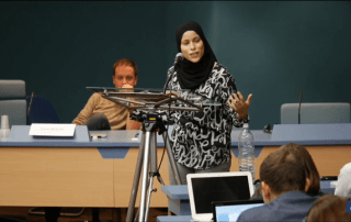Alaa Murabit's speech at World Forum on Democracy 2016. Photo credit: Council of Europe
