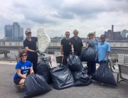 East River Park clean-up with Lower East Side Ecology Center