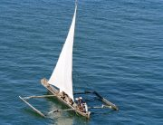 Fishing boat in the Indian Ocean off the island of Mombasa. UN Photo/Milton Grant (file)