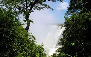 Spectacular Victoria Falls, seen from Livingstone, Zambia. Photo: UN Photo/Evan Schneider