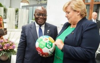 President Akufo-Addo and Prime Minister Solberg at the European Development Days in June.