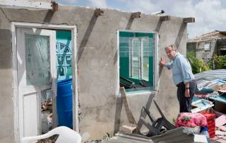 Photo: The Secretary-General visits Barbuda after a category 5 hurricane hit the island nation.