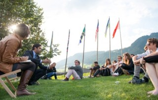 Ahmad Alhendawi addresses youth at the European Forum Alpbach
