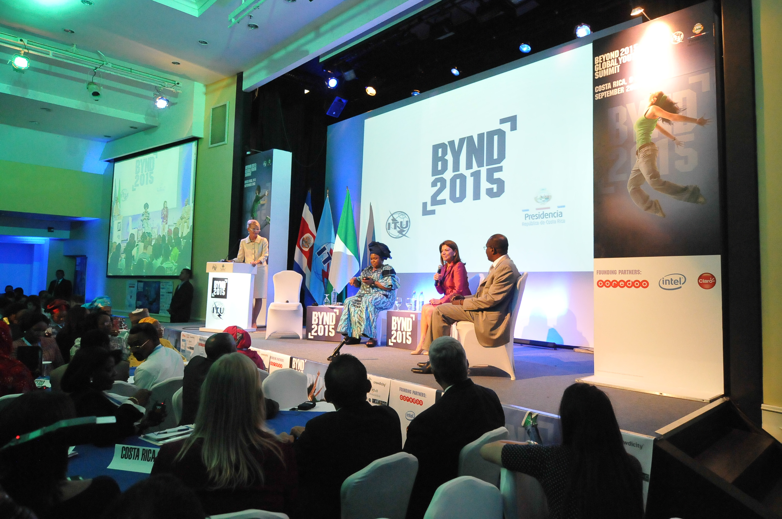 Ahmad Alhendawi at the BYND 2015 Youth Summit in Costa Rica