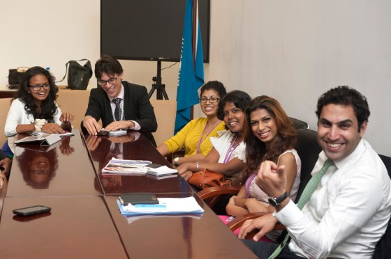 Alhendawi with the newly appointed Youth Panel in Sri Lanka.