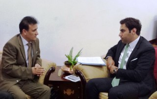 Afghanistan's Deputy Minister with Alhendawi.
