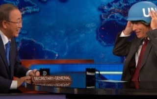 UN Secretary-General Ban Ki-moon on The Daily Show with Jon Stewart
