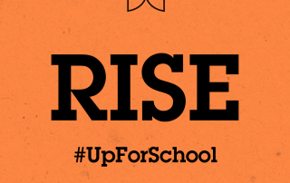 #UpForSchool RISE Orange Social Square