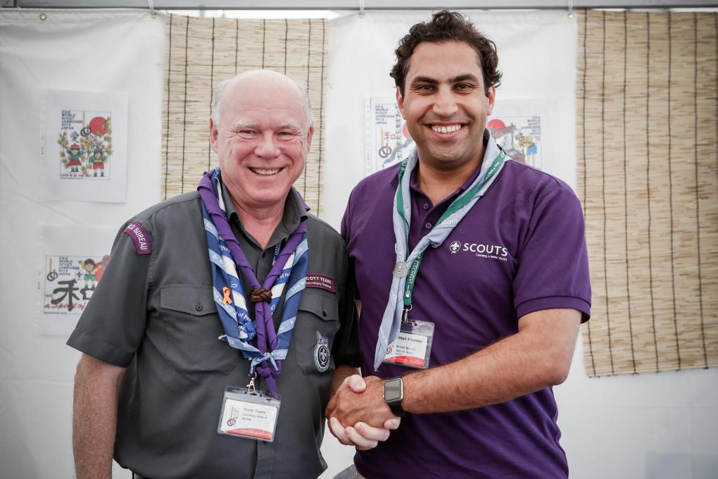 Scott Teare, Secretary General of the World Organization of the Scout Movement, and Ahmad Alhendawi, UN Secretary-General's Envoy on Youth.