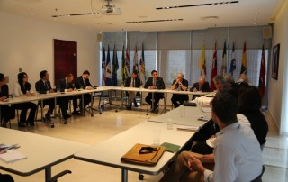 The UN Youth Envoy during a donors' meeting convened by UNFPA Libya and held at the Canadian Embassy.