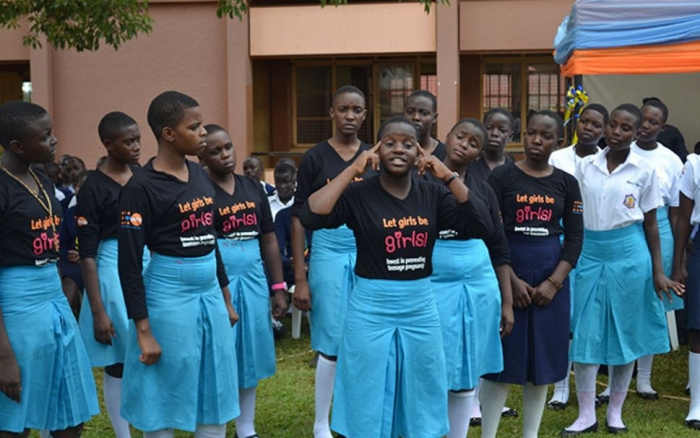 """Students perform their award-winning poem, """"The Life that is Worthy."""" Their message makes them ambassadors of sustainable development, said leaders at the 2016 Music, Dance and Drama Festival."""