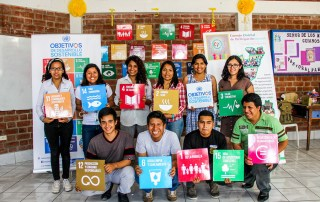 Youth community representatives participating at a workshop on the Sustainable Development Goals (SDGs) in San Juan del Lurigancho, Lima, Peru. (UNV Peru, 2016)