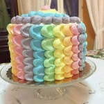 Rainbow Petal Cake! This was my sweet nephew Ethans firsthellip