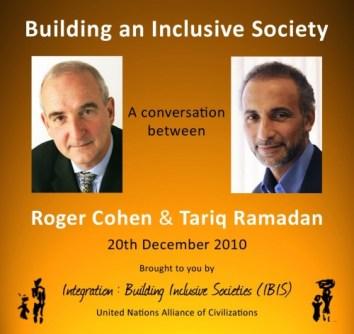 Building an Inclusive Society, a conversation between Roger Cohen & Tariq Ramadan