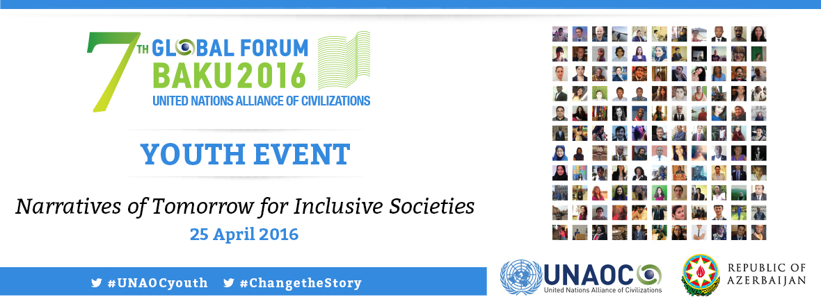 During Youth Event of the 7th UNAOC Global Forum young leaders will shape Narratives of Tomorrow for Inclusive Societies