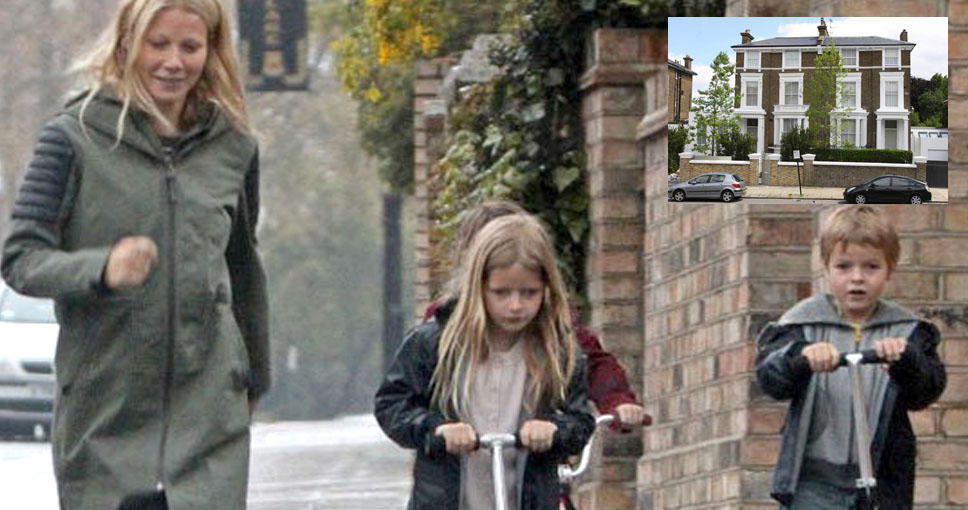 Belsize Park Gwyneth Paltrow con sus hijos.