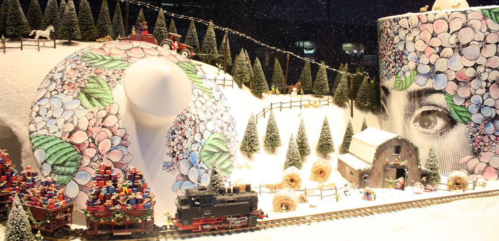 Un escaparate de Navidad de Selfridges.