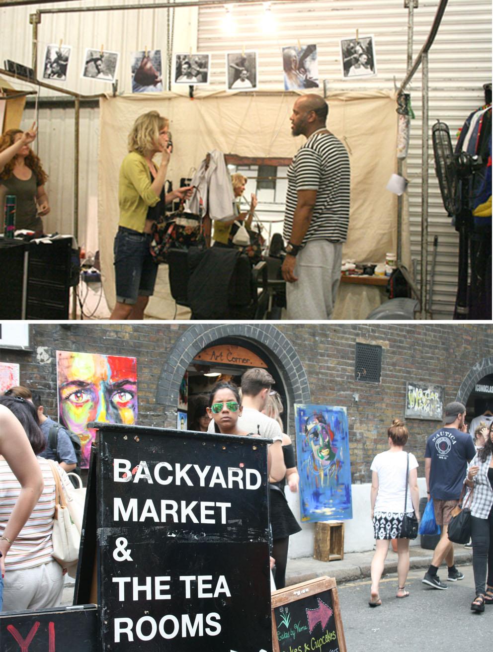 Mercadillo de Brick Lane backyard market