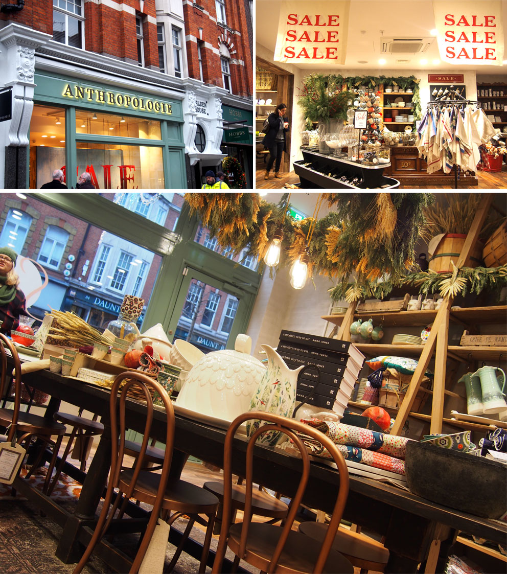 Tiendas en Marylebone Londres Anthropologie