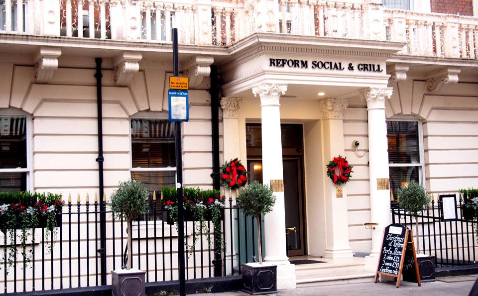 Tiendas en Marylebone Londres Reform SOcial & Grill