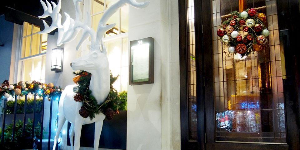 Restaurante 34 en Navidad Mayfair Londres