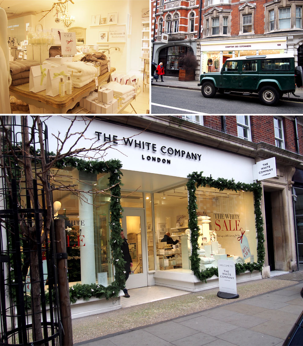 Tiendas en Marylebone Londres The White Company