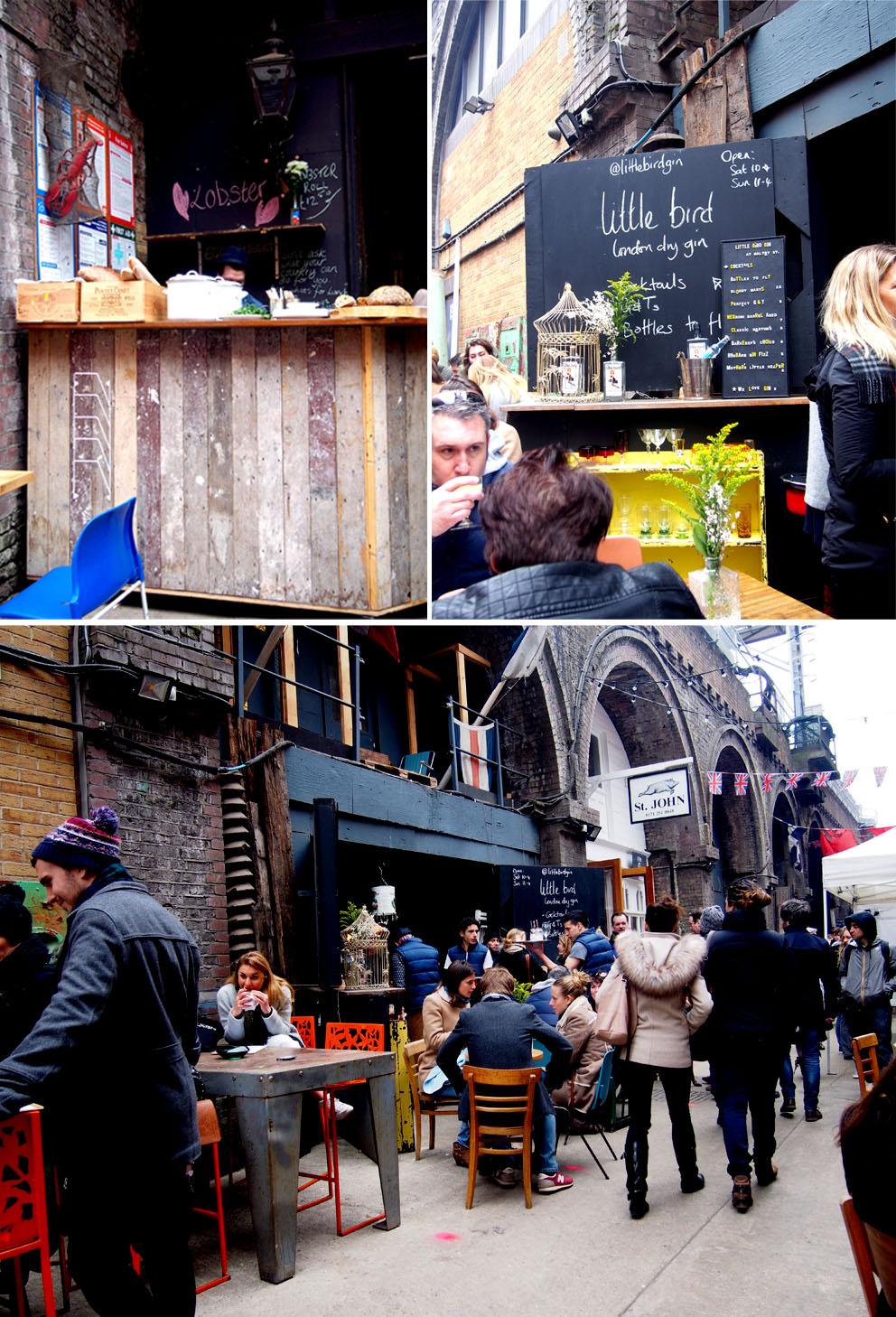 Maltby Street Market en Ropewalk mesas
