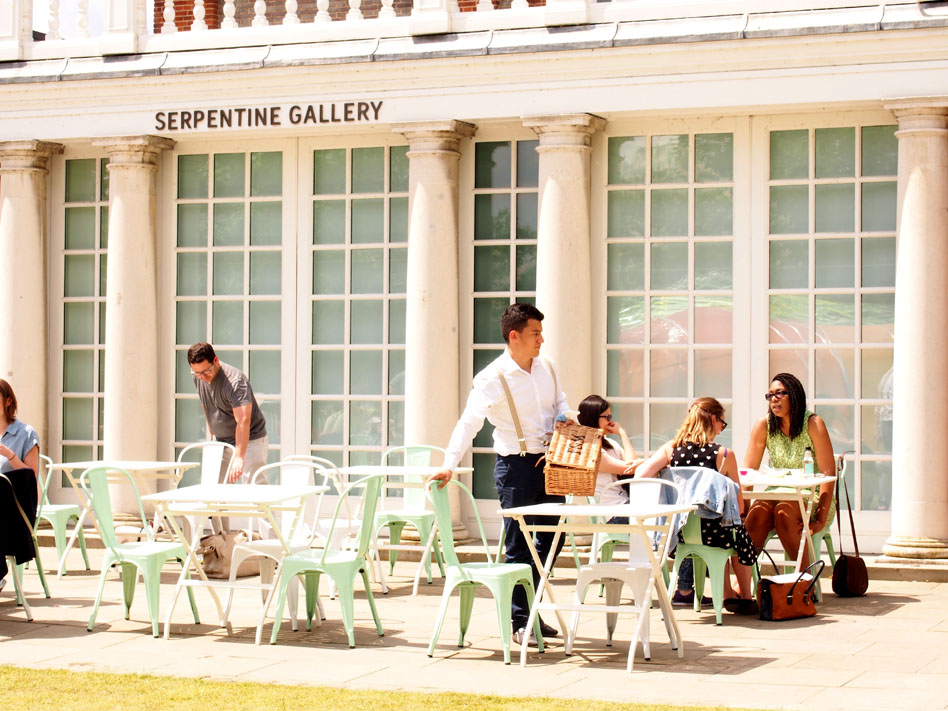 Serpentine Pavilion de 2015 terraza