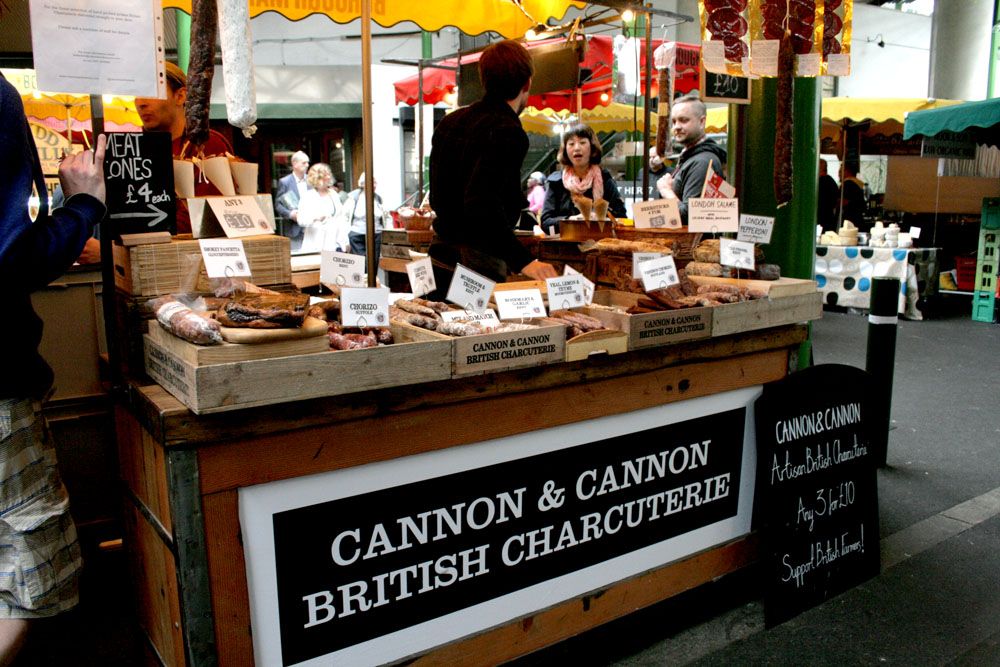 donde comer en Londres Borough Market